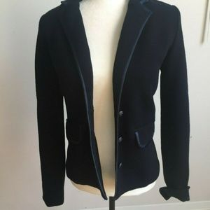 Line the Label navy blue ribbed classic blazer S